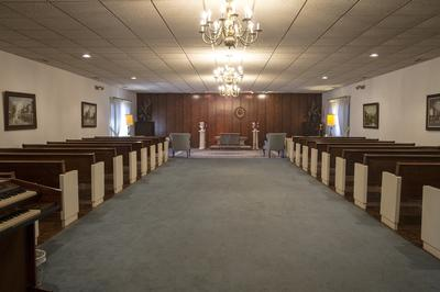 Our East Chapel can accommodate over 100 guests for services.